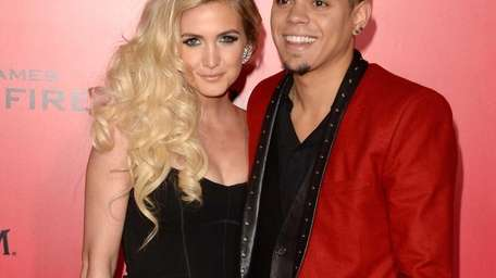 Ashlee Simpson and Evan Ross arrive at the