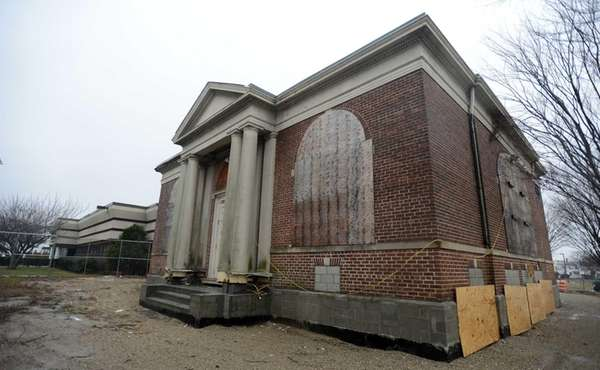 The Carnagie Library in Patchogue is awaiting restoration.