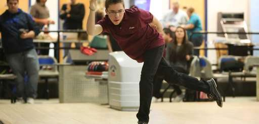 Deer Park bowler Adam Zimmerman practices at Deer