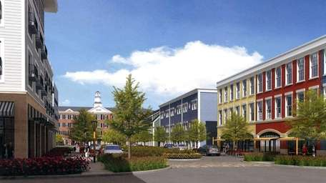 A rendering of proposed new buildings on Main