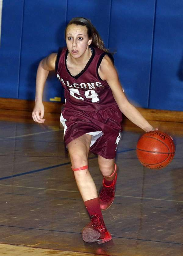 Deer Park's Kristy Vitucci drives from midcourt in