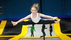 Jump around at Bounce Trampoline Sports in Syosset.