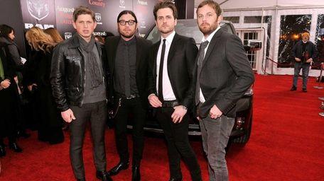 From left, Matthew Followill, Nathan Folllowill, Jared Followill