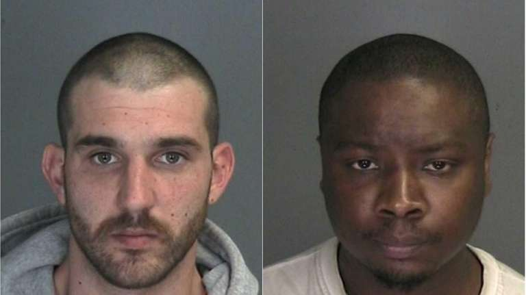 From left, Thomas O'Brien, 26, and Ivan Maxwell,