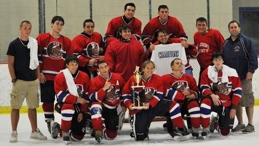 St. John the Baptist's ice hockey team, front