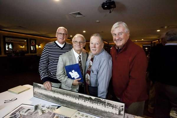 North Babylon alumni, from left, Bill Sullivan, 70,