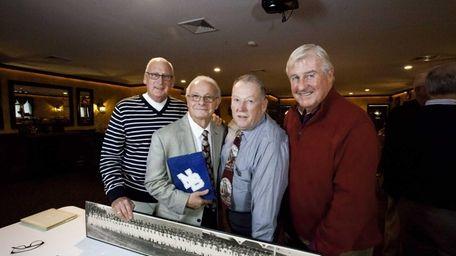 North Babylon alumni, from left, Bill Sullivan, 70,