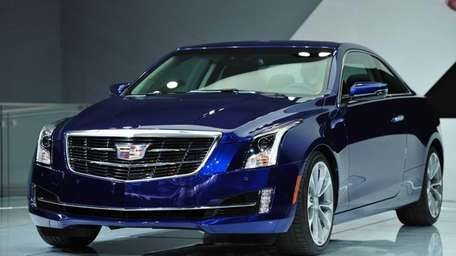 The 2015 Cadillac ATS coupe is unveiled during