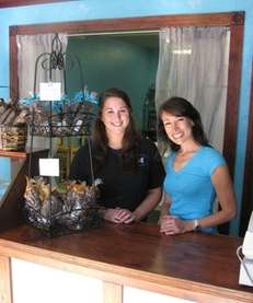 Heather Rushforth-Foley, right, and Allison Krueger are owner