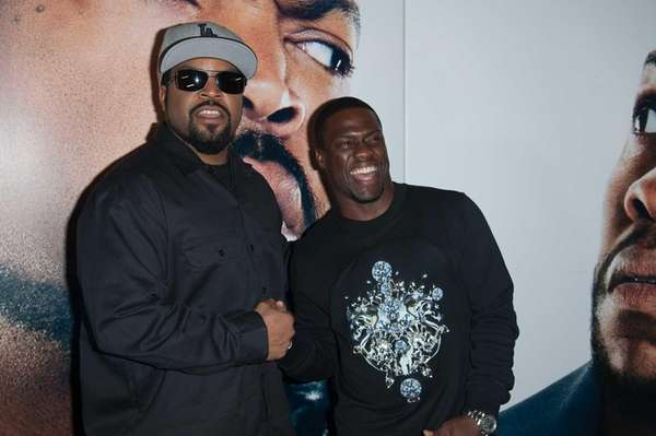 Ice Cube, left, and Kevin Hart at a