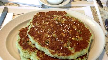 Pistachio pancakes at Premier Diner in Commack. (January