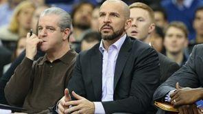 Nets head coach Jason Kidd looks on during