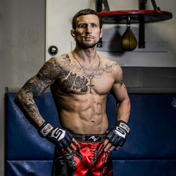 Gregor Gillespie stands in front of a speed