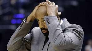 Mike Woodson after a call in the first