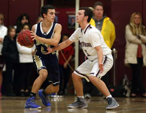 Bethpage Eagles' Chris Tempesta controls the ball against