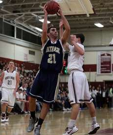 Bethpage Eagles' Greg Gerber shoots over North Shore