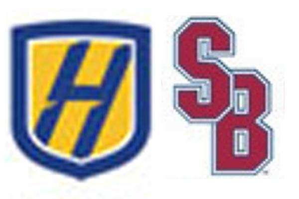 A composite image of the Hofstra and Stony