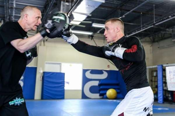 Justin Gaethje at open workouts for World Series