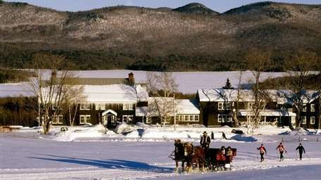 Sleigh riding at Vermont's Mountain Top Inn.