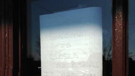 Sonoma Grill in Holbrook has closed. (January 17,