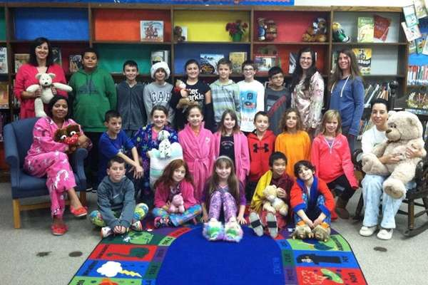 In Commack, Laura Keen's fourth-grade class at Mandracchia-Sawmill