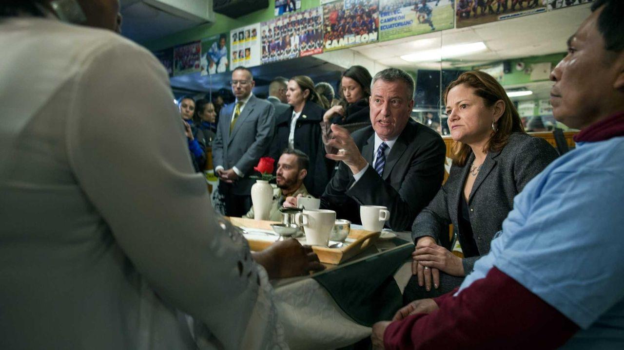 New York Mayor Bill de Blasio and City