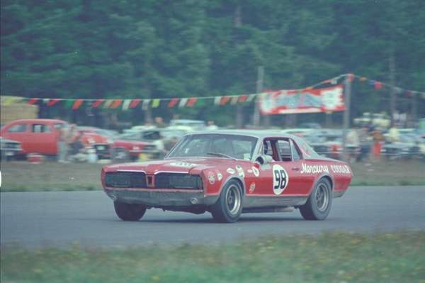 A 1967 Bud Moore Mercury Cougar is pictured