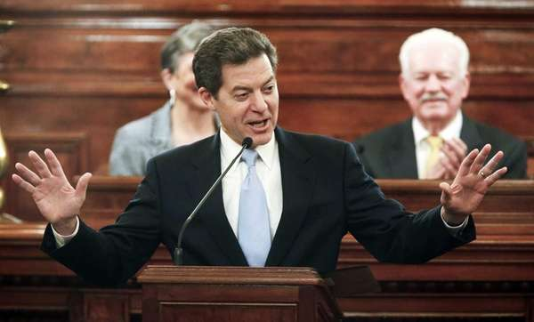 Kansas Gov. Sam Brownback delivers his State of