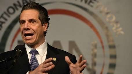 New York Governor Andrew Cuomo is shown at