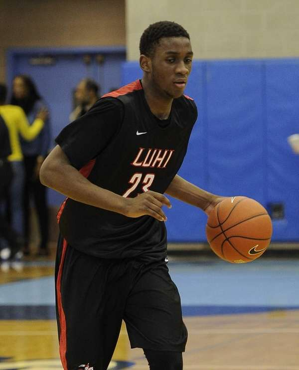Long Island Lutheran's Marvin Prochet controls the ball