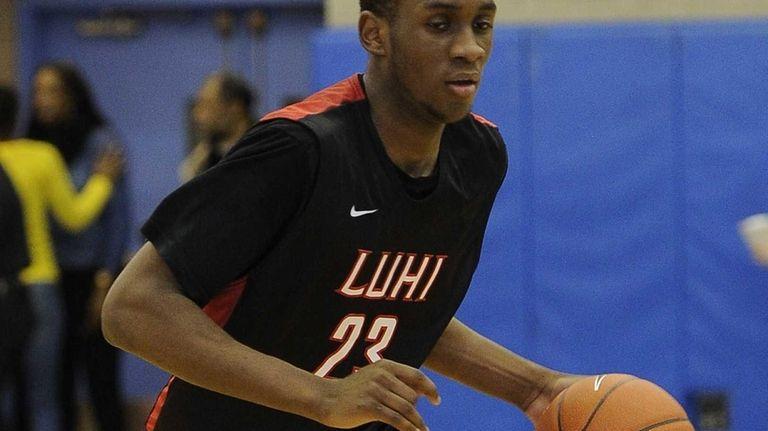 Long Island Lutheran's Marvin Prochet controls the ball