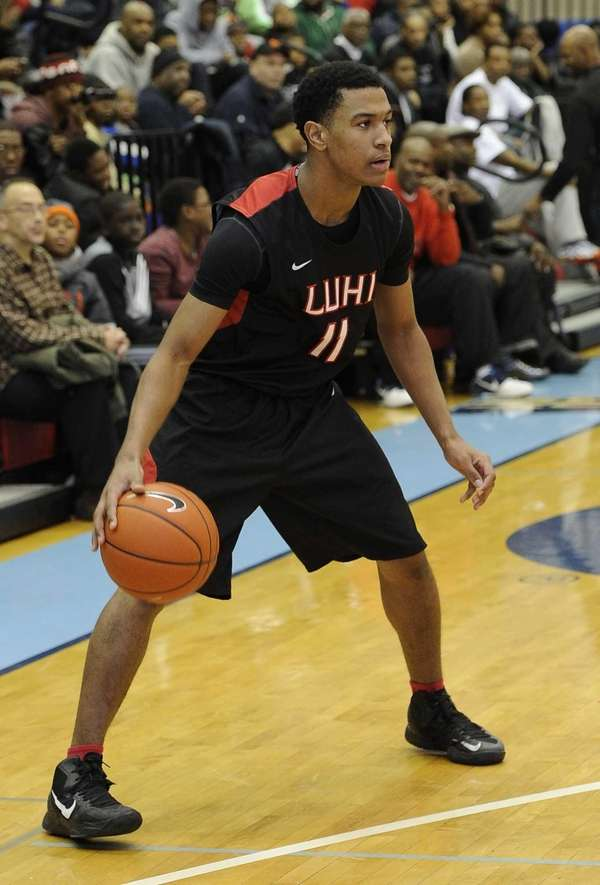 Long Island Lutheran's Devonte Green controls the ball