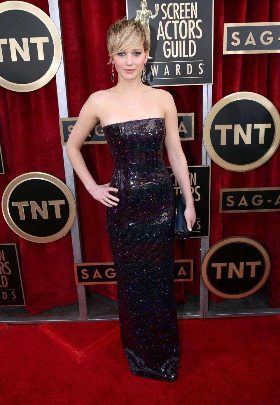 Jennifer Lawrence attends the 20th annual Screen Actors