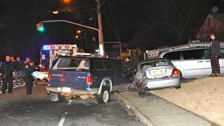 Driver Leonard Dunne, 47, is hospitalized and under