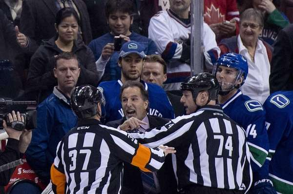 Referees get in the way of Vancouver Canucks