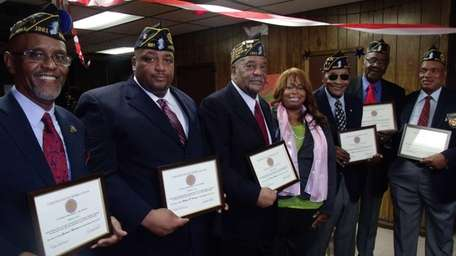 U.S. Army veterans Leonard Hamilton, Michael Hardy and