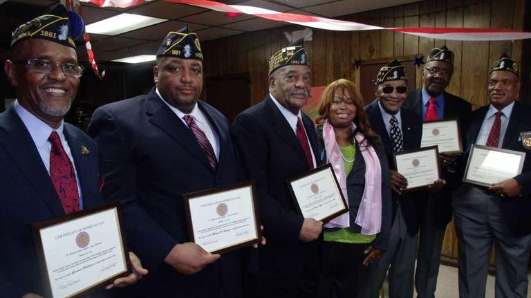 U.S. Army veterans Leonard Hamilton, Michael Hardy and