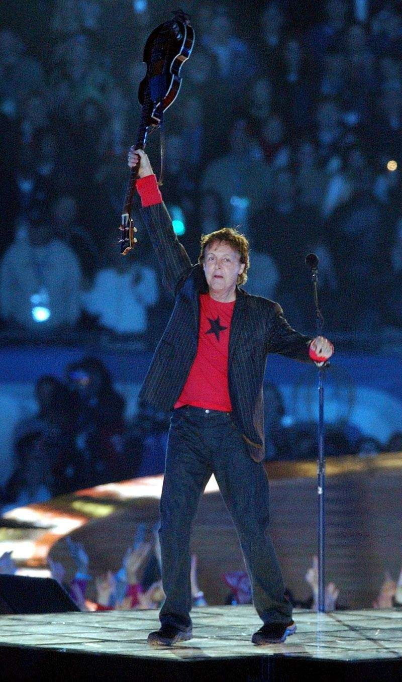 Paul McCartney, 2005: The Super Bowl's reaction to