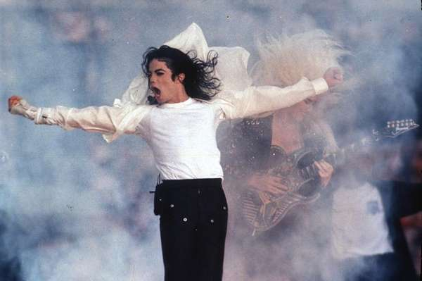 Michael Jackson performs at the halftime show during