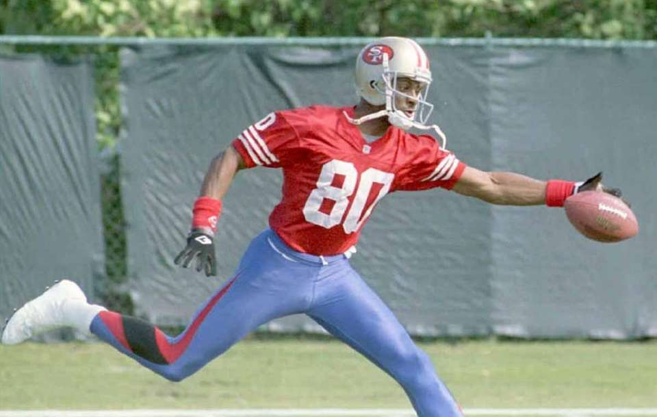 San Francisco wide receiver Jerry Rice was named
