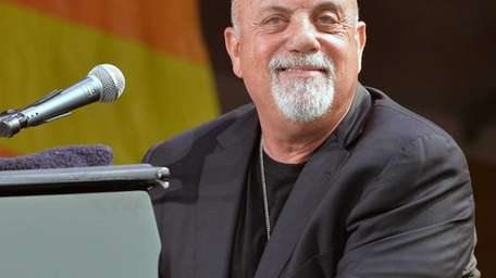 Billy Joel performs during the New Orleans Jazz