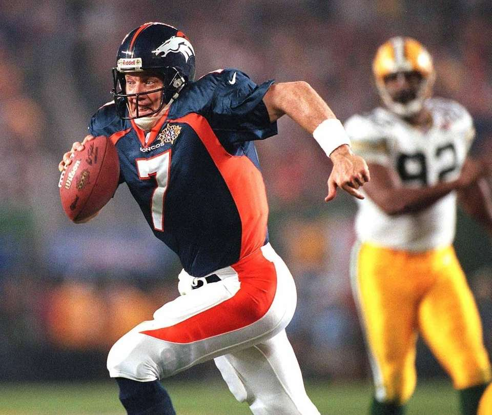 Denver QB John Elway won MVP honors in