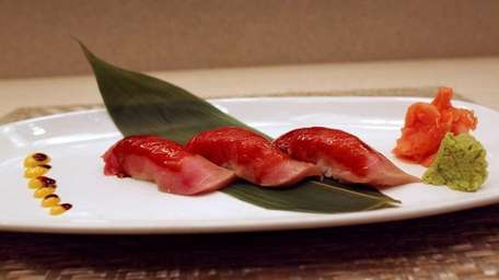 Bluefin tuna sushi is marvelous at at Be-Ju