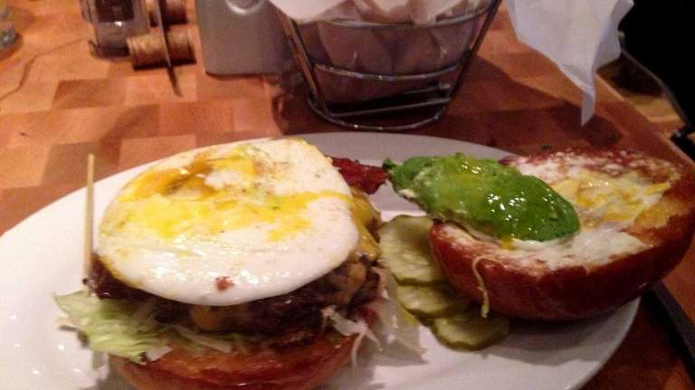 The breakfast burger at Zinburger Wine & Burger