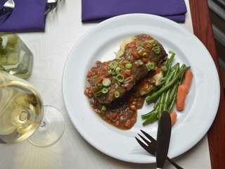 Braised short ribs are ample and excellent at