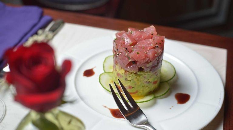 Yellowfin tuna tartare with avocado is a top