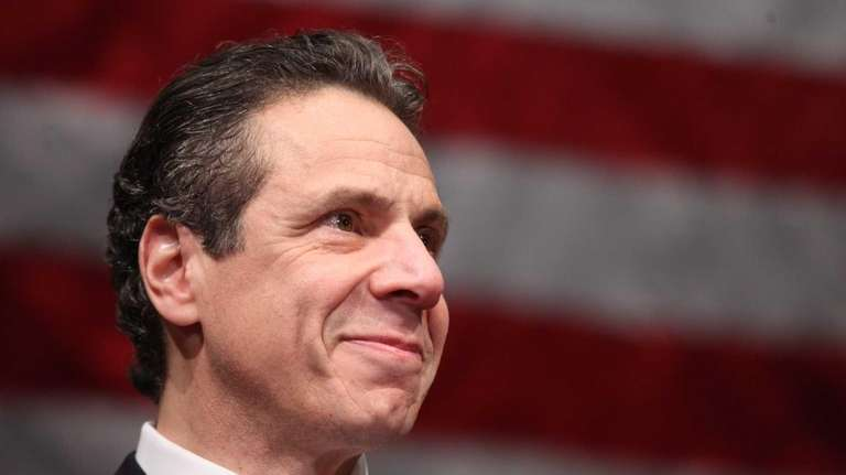 New York Gov. Andrew Cuomo speaks before Nassau