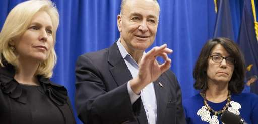U.S. Sens. Kirsten Gillibrand and Charles Schumer at