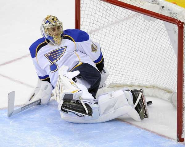 St. Louis Blues goaltender Jaroslav Halak, of Slovakia,