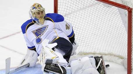 St. Louis Blues goaltender Jaroslav Halak, of Slovakia,